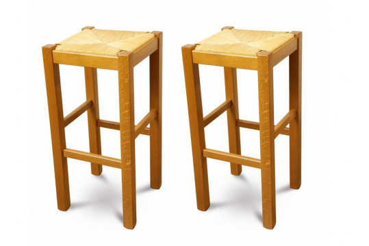 Lot de 2 tabourets de bar LA BRESSE