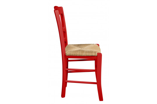 Chaise bois Silva - Rouge