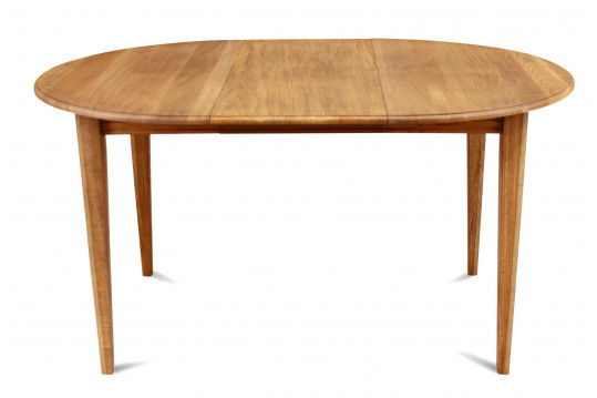 Table ronde  extensible - bois chêne massif