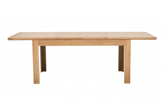 Table rectangulaire extensible BOSTON 160 cm en chêne clair