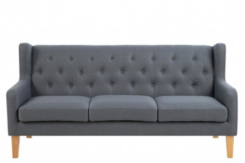 Canapé bois et cuir Meuble salon