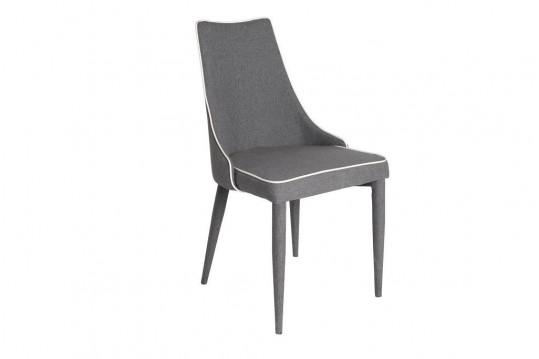 Lot de 2 chaises bois et tissu MONDRIAN GRIS