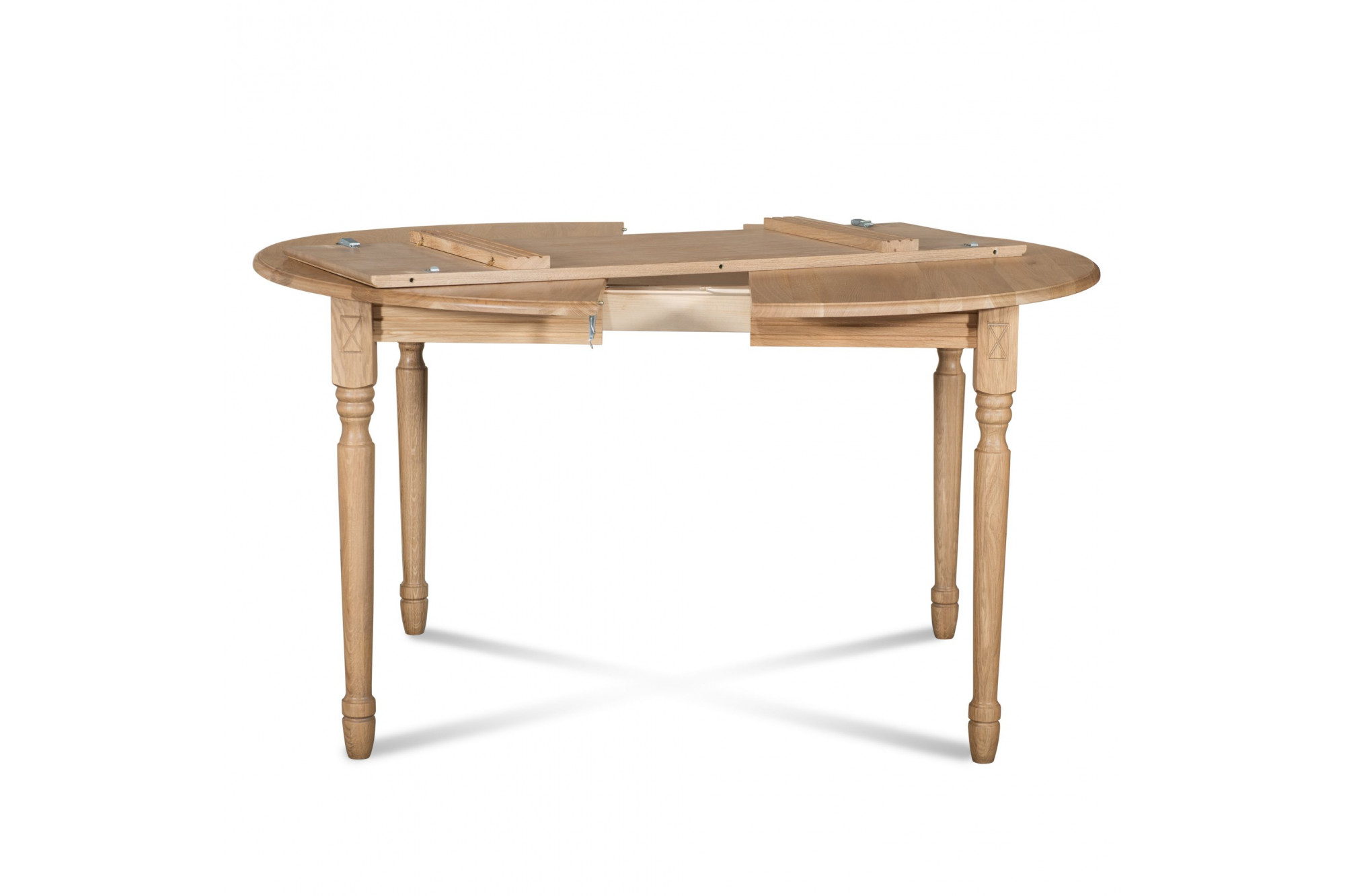 Table ronde extensible 12 personnes hellin for Table ronde 12 personnes