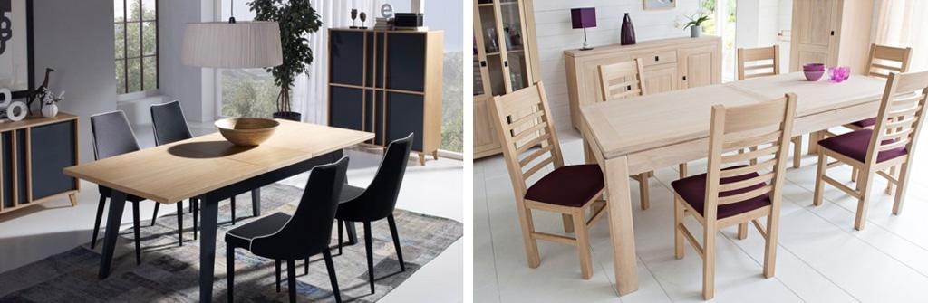 Salle manger meuble bois massif - Salle a manger en bois ...