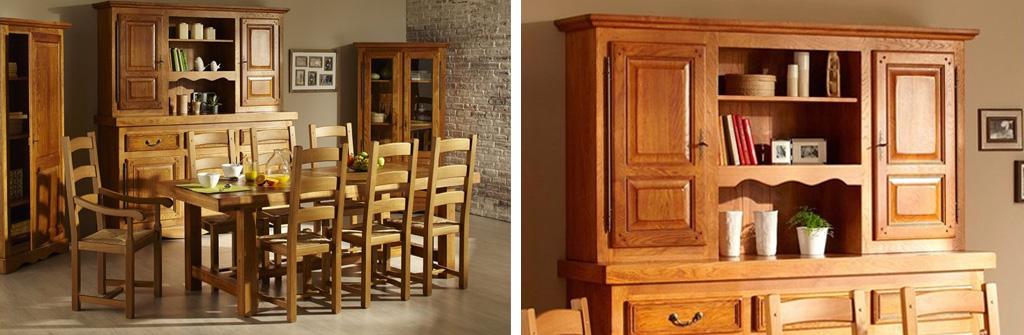 Une salle manger rustique avec les meubles en ch ne hellin - Meuble de salle a manger rustique ...